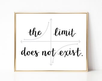 """Instant Download """"the limit does not exist"""" Digital File Printable"""