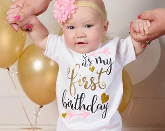 1st Birthday Outfit - First Birthday Shirt - 1st Birthday - One Birthday Bodysuit - 1st Birthday Shirt - 1st Birthday Party - Baby Clothing