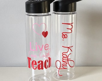 Teacher Gift, Personalized Teacher Water Bottle, Teachers Gift, Teacher Appreciation Gift, Personalized Teacher Gift