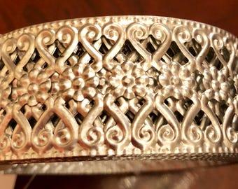 Silver Filigree Decorative Roll