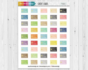 Credit Card Planner Stickers | Bill Payment | Credit Cards | 17338-02