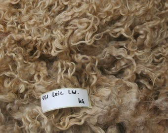 Leicester longwool whole raw fleece 4.5kg/9.92lb