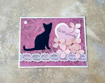 Cat Sympathy Card * Cat Loss Card * Pet Loss Card