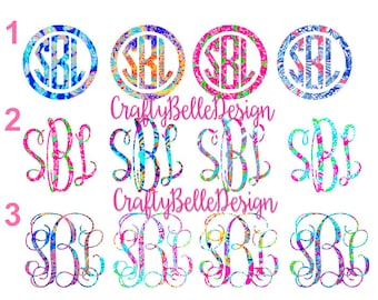 SALE | SALE | SALE | Lilly Pulitzer inspired Monogram Decal | Yeti Decal Sale | Tumbler Decal Sale | Car Decal Sale | Preppy Monogram Sale