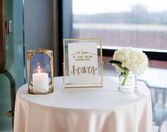 Wedding Memorial Sign
