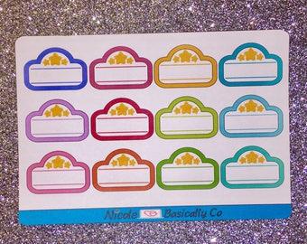Rainbow Movie Marquees Planner Stickers