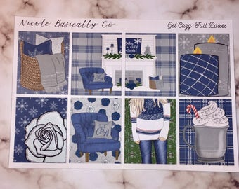 Get Cozy Winter Kit for use with vertical Erin Condren Life Planner and other planners