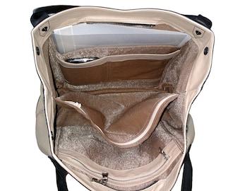 Leather Handbag, for her, Notebook City Bag, Italian Leather Purse, Shoulder Bag, Tote bag, Messenger Bag, Leather Accessories
