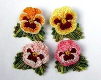 Hand Dyed Flower Pin Realistic Irish Crochet Flower Brooch Hand Painted Fiber Art Brooch Handmade Jewelry Crochet Jewelry Crochet Brooch