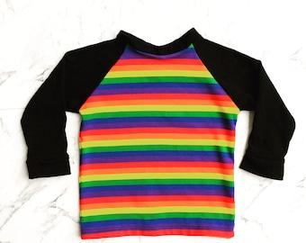 Rainbow Raglan Sweater