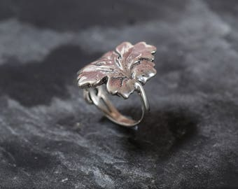 Leaf Ring, Silver Leaf Ring, Solid Silver Ring, Statement Ring, Unique Silver Ring, Art Ring, Interesting Ring, Sterling Silver Ring, Leaf