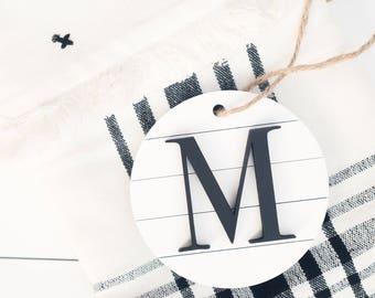 Monogram Ornament, Personalized Christmas Ornament, Personalized Ornament, Initial Sign, Personalized sign