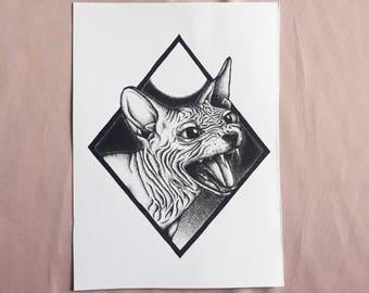 Sphynx Print