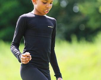 Tennis Training Top and Leggings in Cotton | Girls Tennis Clothes | Girls Junior Tennis Apparel