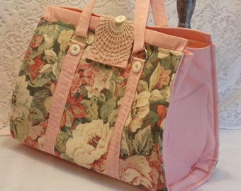Cottage Doctor Bag Large Beige Floral ROB-01