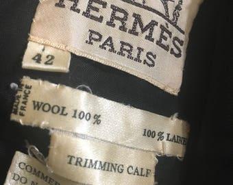 Heavy wool Hermes skirt
