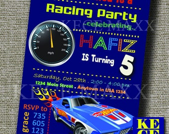 hotwheels,car,formula,invitation,birthday invitation,invite,boys,birthday boy,race,racing,circuit