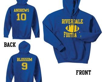 Riverdale Football Hooded Sweatshirt Sports Archie Andrews 10 Jason Blossom 9 Reggie Mantle 17 Football Captain Hoodie Football Season