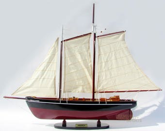 """Handcrafted America Model Boat 32"""""""