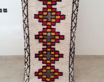 superior berber azilal runner rug handmade of hand spun natural wool shipped directly from morocco will