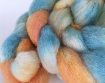 BFL Combed Top Roving Hand Dyed for Spinning