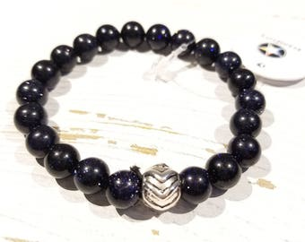 Blue Goldstone Healing Gemstone Bracelet