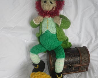 Saint Patrick's Day Leprechaun Knitted Doll