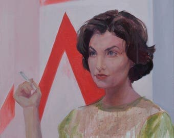 Audrey Horne Twin Peaks David Lynch Painting contemporary Artwork wall decor