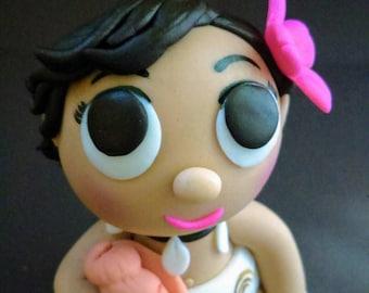 Baby Moana Fondant Cake Topper