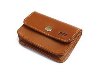 Leather Card Holder Credit Card Holder Business Card Case - Light Brown