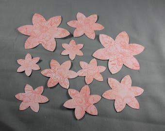 Scrapbook Die Cuts Flowers set in Pink