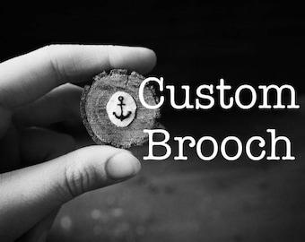 Custom Hand Embroidered Brooch