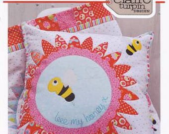 Bee my Honey applique cushion pattern