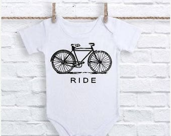 Bicycle Onesie, Bicycle Baby Clothes, Bike Baby Bodysuit, Bicycle Gifts, Baby Shower Gift, Bicycle Childrens Clothes, Bike Kids Clothes