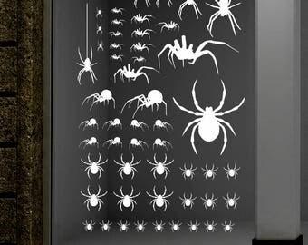 Spider Decals, Halloween Decals,  Halloween decorations,  Pumpking Decorations, Halloween stickers, Halloween stickers, Spiders Stickers