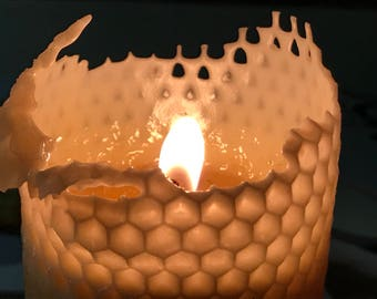 Honeycomb Candle ~ 100% Pure Beeswax