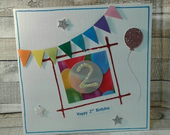 SALE / REDUCED / CLEARANCE / age 2 / age Cards / birthday cards / 2nd birthday