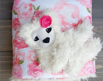 Ivory Bear Cuddle Monster || 16 inch. lovey, kids gift, plush, woodland, baby gift, nursery, stuffed animal,