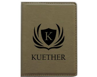 Passport Cover Passport Holder Personalized (Tan-Design 1)