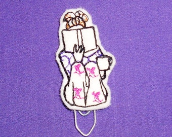 Book Reading Girl -  Book - Paper Clip - Felt Planner Clip - Planner Accessory - Stationery - Cute Paper Clip - Bookmark - Planner Clip
