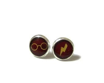 Harry Potter Earrings - Harry Potter Party - Harry Potter Kids - harry potter gift - harry potter jewelry