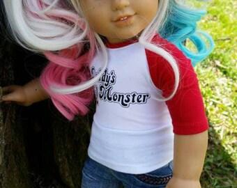 Custom Harley Quinn American Girl Doll Wig ONLY 2 LEFT!