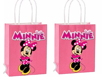 Minnie mouse Party Favor Bag~ Minnie mouse Party Inspired Decorations & Decor instant download