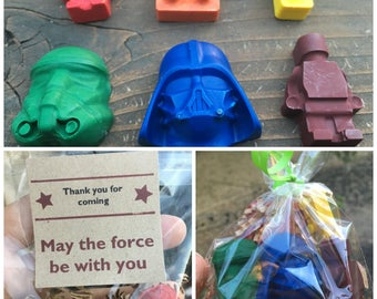 Star Wars FAVOR // Crayon Goodie Bag // Star Wars Party // Party Favor Bags // Star Wars Favors // Personalized Party Favors