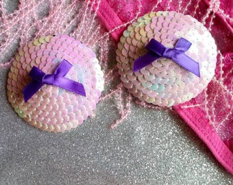 Sequin nipple pasties, nipple pasty, burlesque costume, lingerie accessories, stripper outfit, sequin underwear, rave, fetish