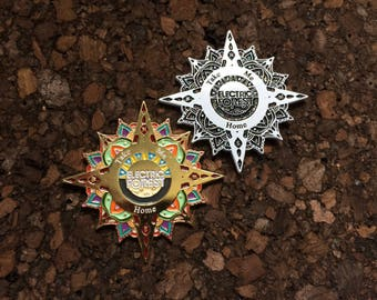 Electric Forest Compass to Home Pin *Free Shipping*
