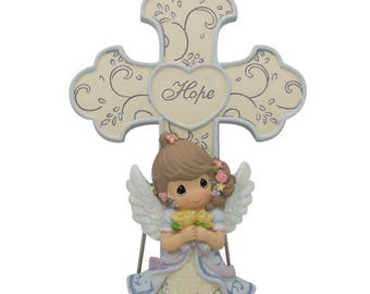 "5.75"" ""Hope"" Guardian Angel Religious Wall or Standing Cross"