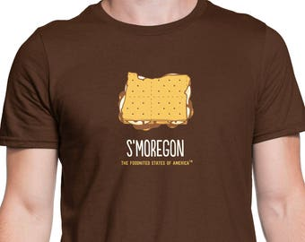 Men's S'moregon T-Shirt, The Foodnited States