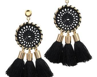 MANILAI Boho Tassel Earrings - Different Colours available