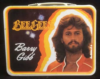 Vintage Collectible Bee Gees Metal Lunch Pail